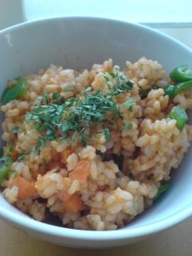 ピリッと辛い玄米チキンライス