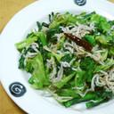 ✿菜の花としらすのペペロンチーノ風✿