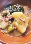 大根と小松菜のそぼろあんかけ煮