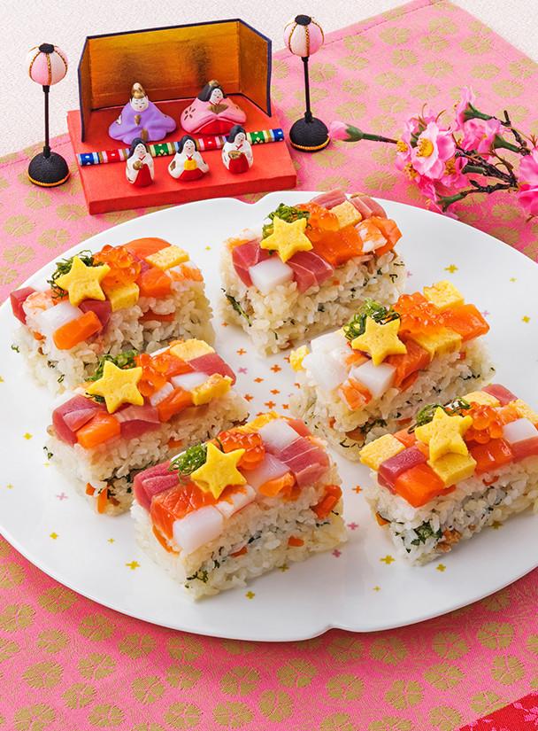 ひな祭りに♪カラフルモザイクちらし寿司
