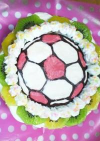 サッカーボールのケーキ