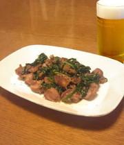 砂肝ニラ炒めの写真