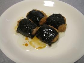 レンジ料理 - 挽き肉の磯辺焼き