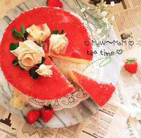 春巻きフラワーver.苺のショートケーキ