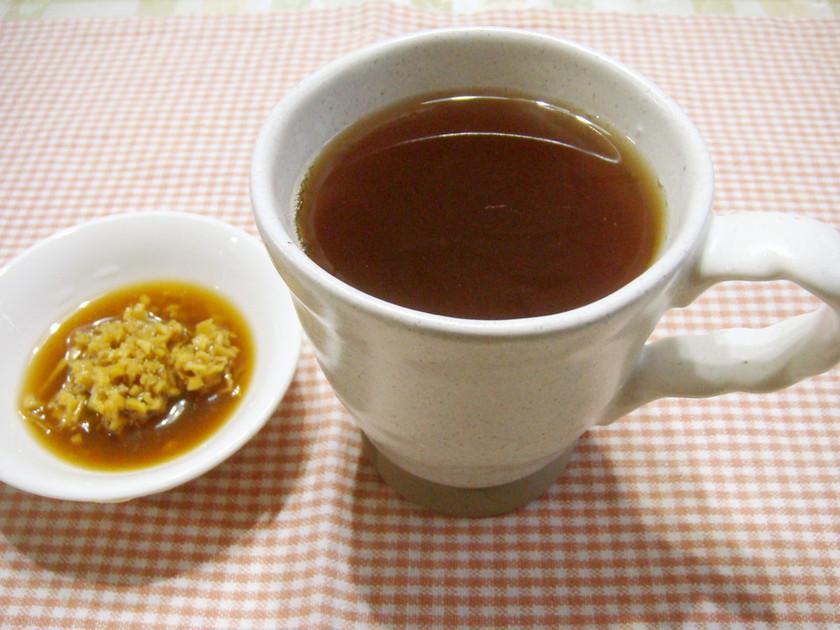 紅茶に酢しょうがでぽっかぽか~