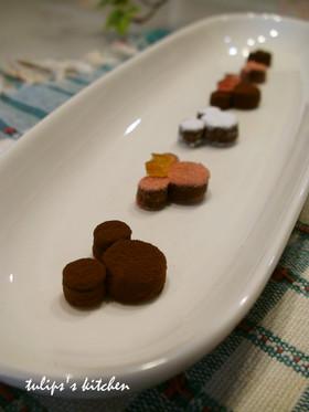 スライス生チョコレートで簡単ミッキー