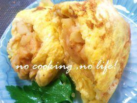 朝食に!オムポテ☆卵のポテト包み焼き