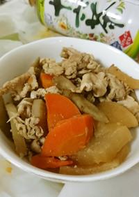 豚肉と根菜類の煮物