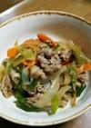 牛肉のオイスターソース炒め(^q^)