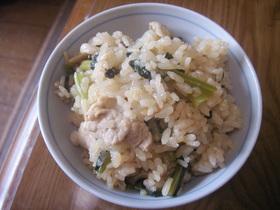 豚と小松菜の炊き込みご飯