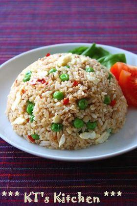 挽肉とグリーンピースのスパイシー中華焼飯