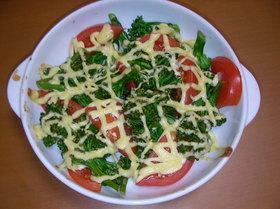 ブロッコリーとトマトのマヨ焼き