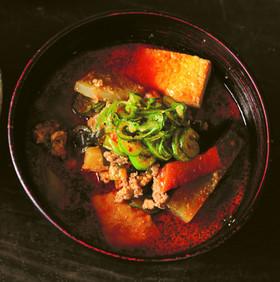 寒い日に温まるおかずスープ!坦々野菜汁