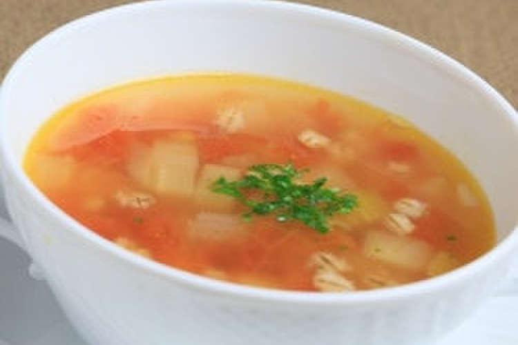 スープ もち 麦