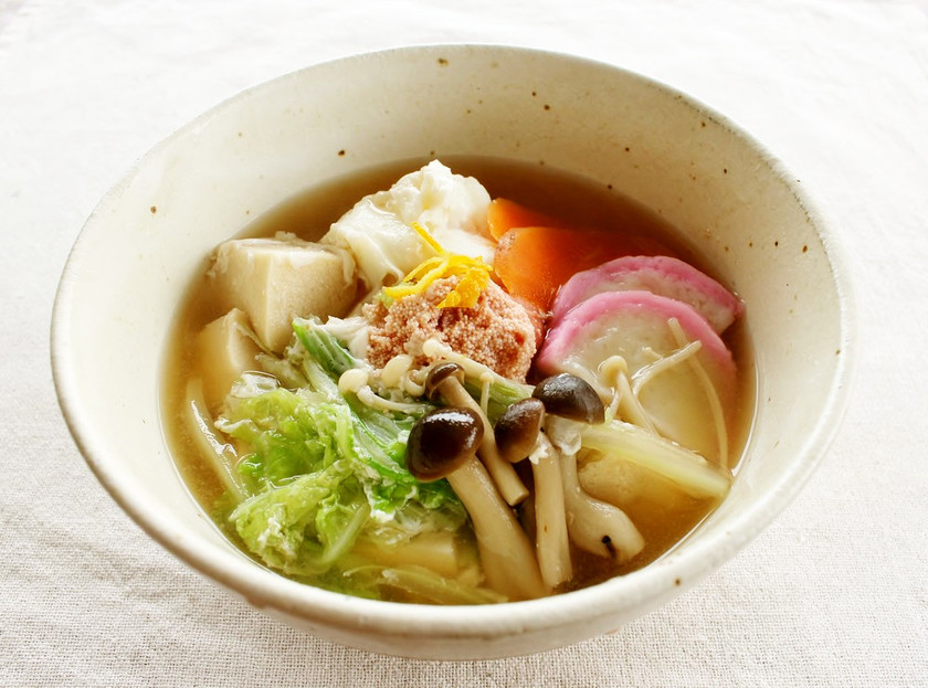 糖質制限!高野豆腐の、食べるたまごスープ