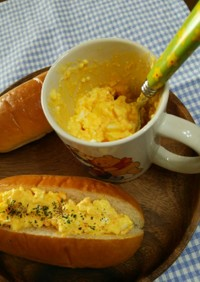 マグカップで~卵サンド&タルタルソース♪
