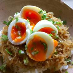時短レシピ!シラタキ丼トロトロ卵付き