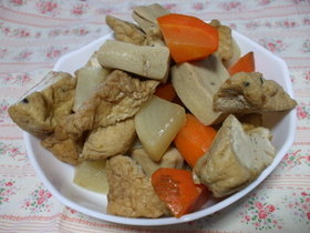 がんもと厚揚げと高野豆腐の煮物