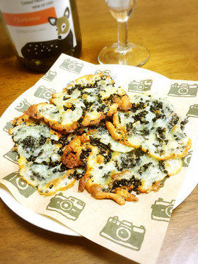 おつまみに☆チーズと胡麻のカリカリ焼き