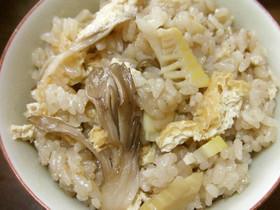 筍と舞茸の炊き込みご飯