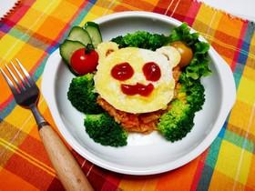 【食パン用抜き型】クマさんオムライス