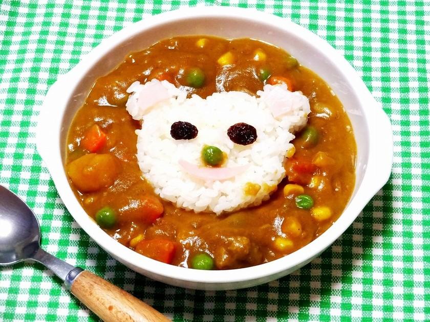 【食パン用抜き型】クマさんカレーライス