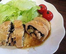 簡単☆鶏ムネ肉の海苔チーズ巻き