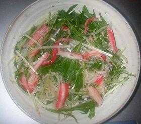 水菜&もやし&カニカマのサラダ
