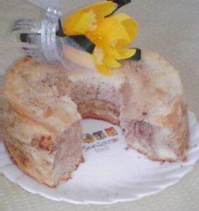 米粉☆マーブルシフォンケーキ