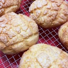 メロンパンにもミックス粉のクッキー