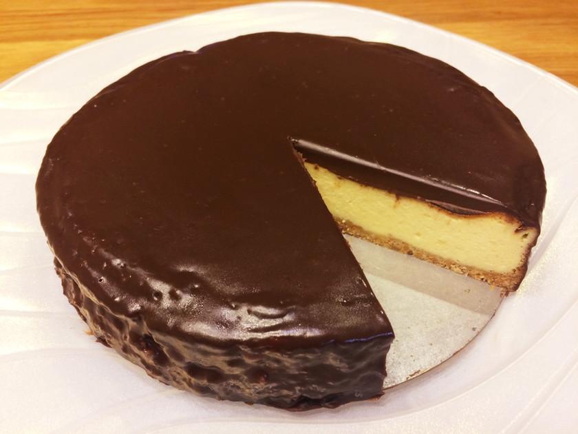 簡単★チョコがけベイクドチーズケーキ