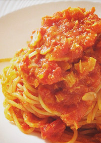 完コピ!トマトとにんにくのスパゲティ