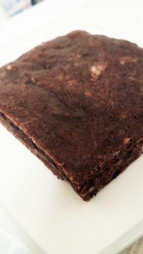 めんどくさがりさんの卵白でチョコケーキ風