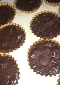 クッキーで簡単タルト生地の生チョコタルト