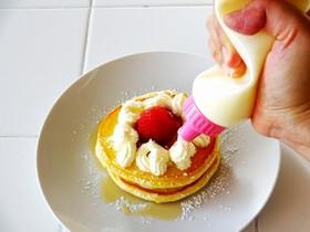 【ふりふりクリーム】ホイップパンケーキ