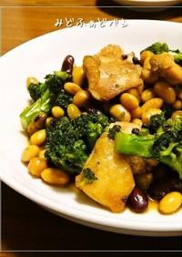 鶏肉とお豆のうま煮✿山椒風味