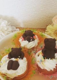 クマカップケーキ