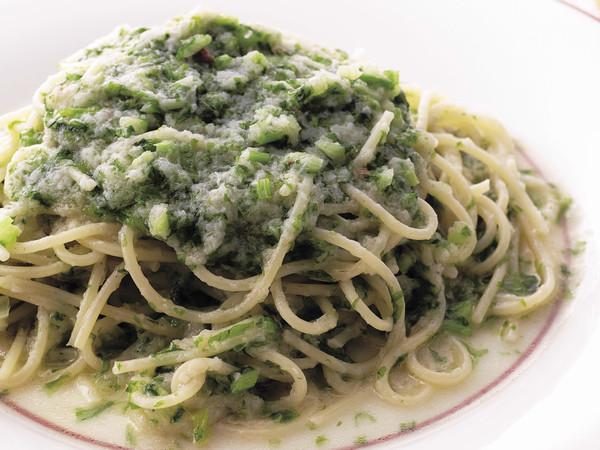 かぶと生青のりのスパゲッティ