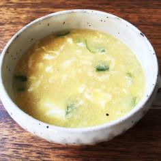 簡単☆コーンクリームと卵の中華風スープ