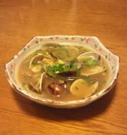 アサリの酒蒸し風スープの写真