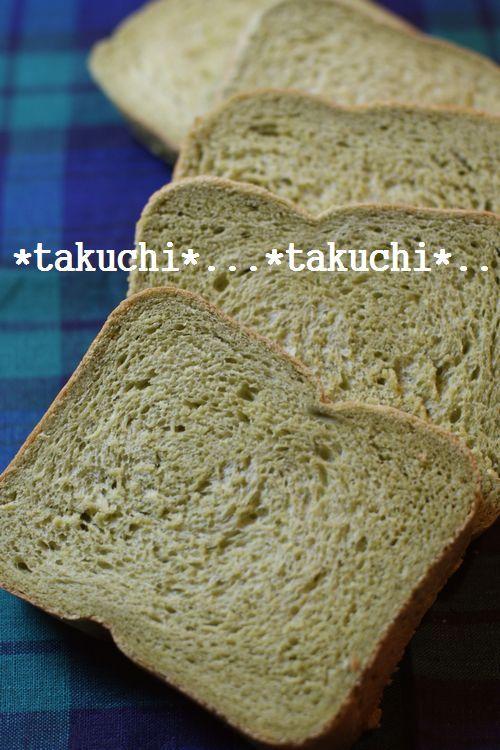 HBで ミルキー抹茶食パン
