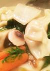 超簡単☆ロメインレタスとぎょうざのスープ