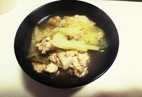 困ったときの☆焼き豆腐で肉団子スープ