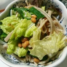 蕎麦入り和風サラダ