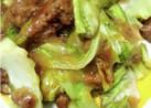 食べ応え抜群!キャベツと味噌挽肉炒め!