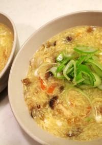 ザーサイと卵のスープ@中華風