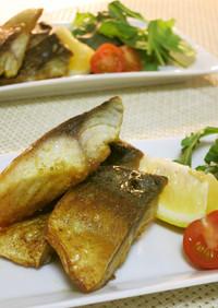 フライパンで簡単カレー風味の鯖のムニエル