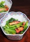 残り物の蒲鉾を簡単に小松菜と炒めました