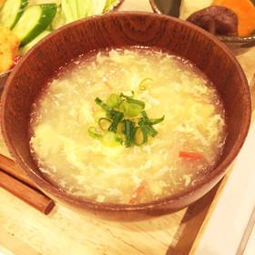 大根おろしの卵コンソメスープ