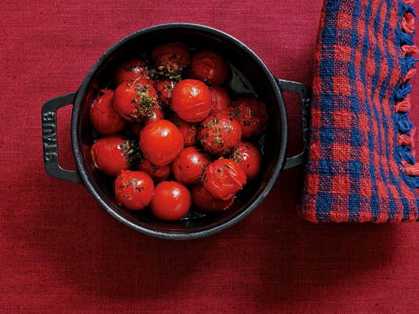 ミニトマトの炒め蒸し